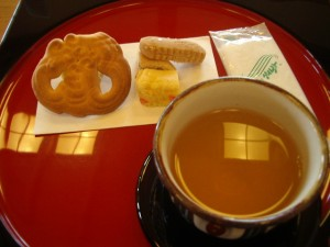 Okinawa tea and sweets
